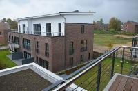 Blick vom Balkon auf das Haus C